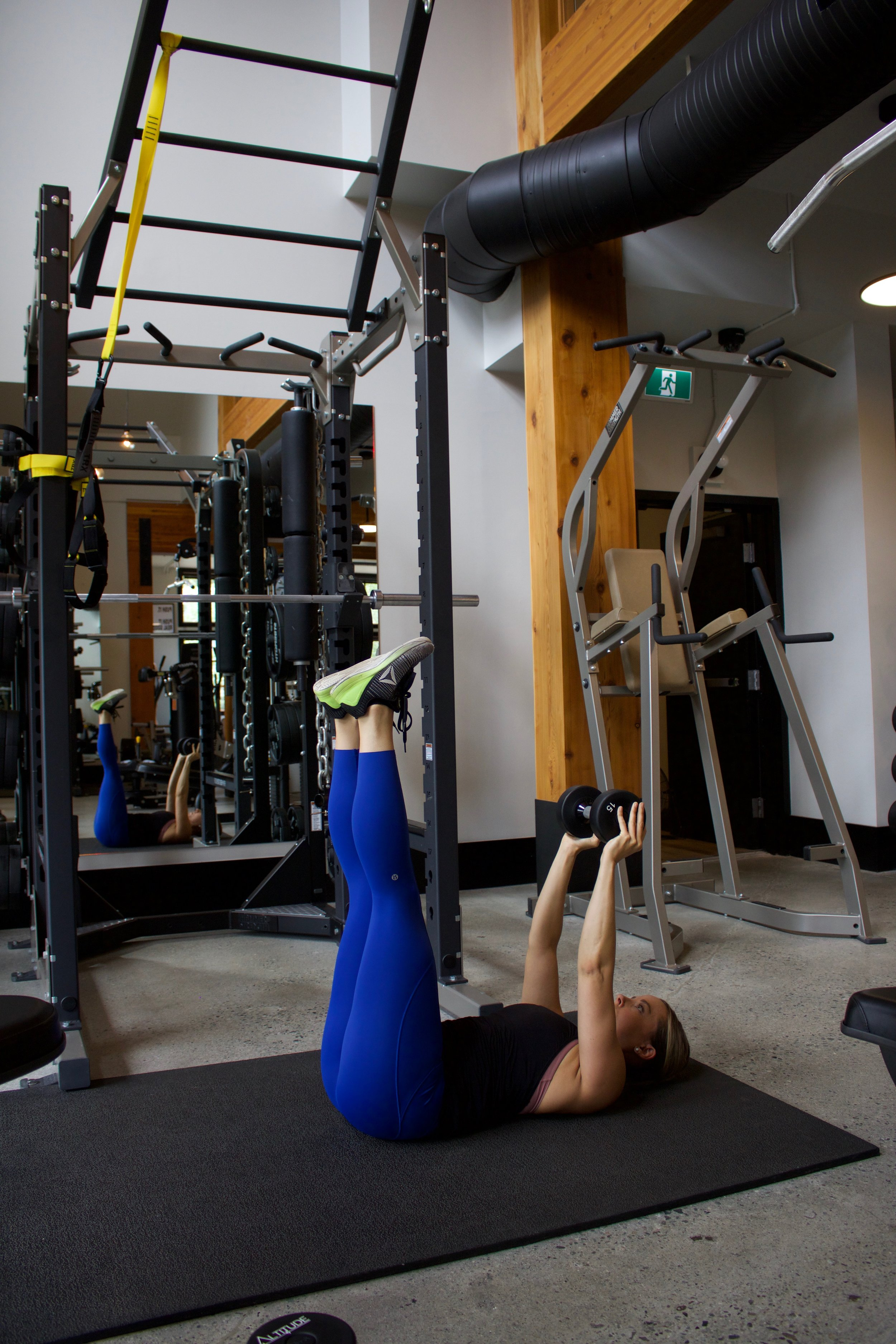 A more challenging variation with straight legs