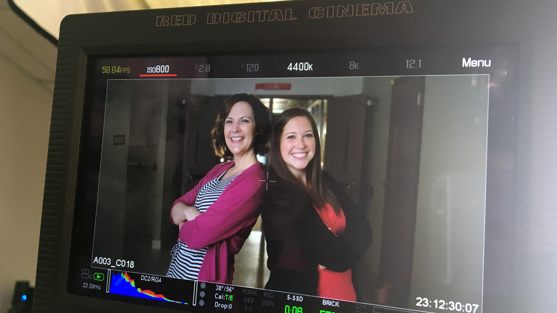 Lacey (right) and Melissa (left) are such generous and talented teachers. We couldn't have asked for better collaborators in the writing and production of this project. In this setup, you can see the goodness just radiating from this dynamic duo!