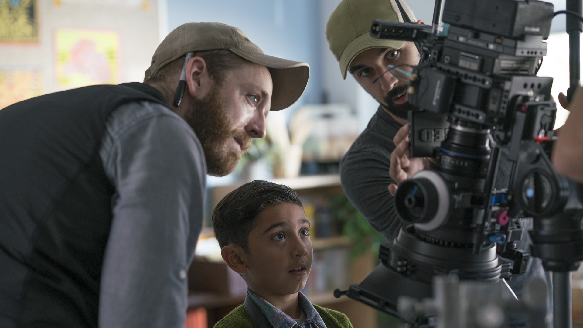 Scott and DP Ian Wells help Joseph line-up a quick insert. All of the key props and classroom dressing were meticulously crafted by Justyna Kornacka and Viviana Palacio, whose talents we were fortunate to have access to for this project.