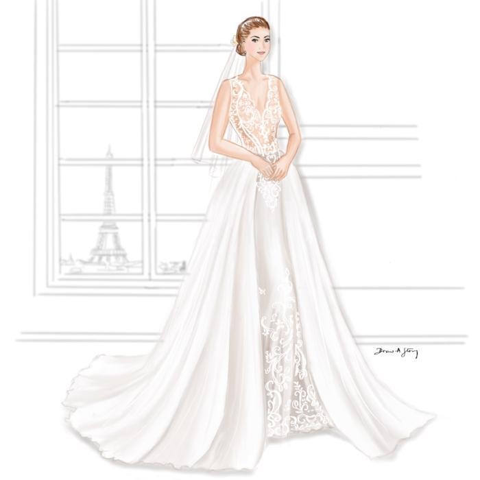 Bride in Berta Bridal