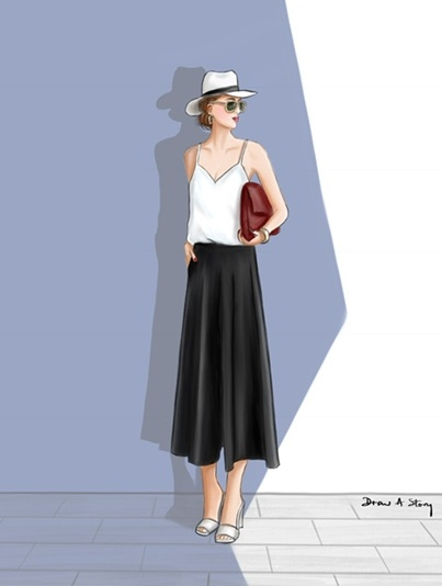 """In the shade"" Street Style Illustration"
