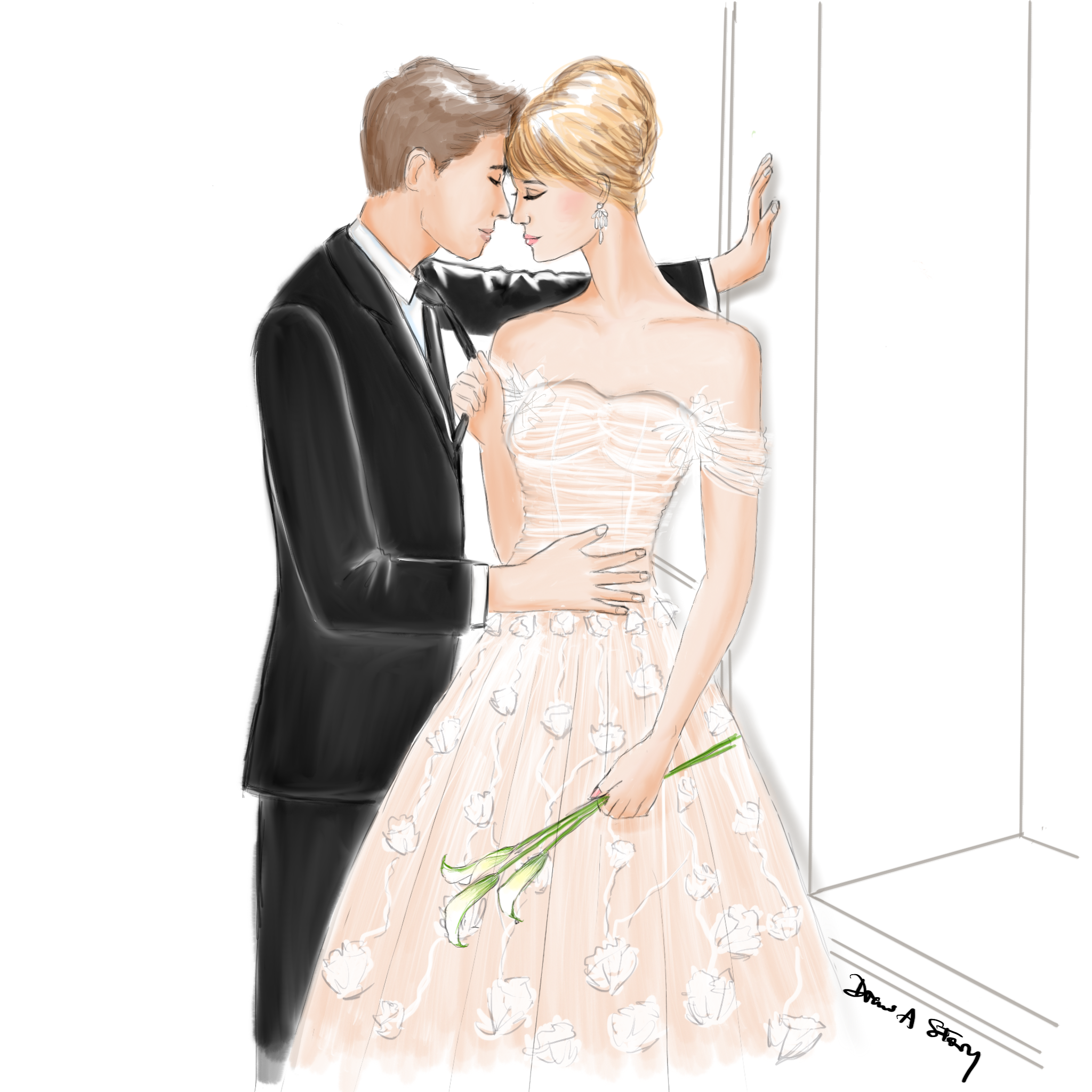 Wedding Illustration by Draw A Story