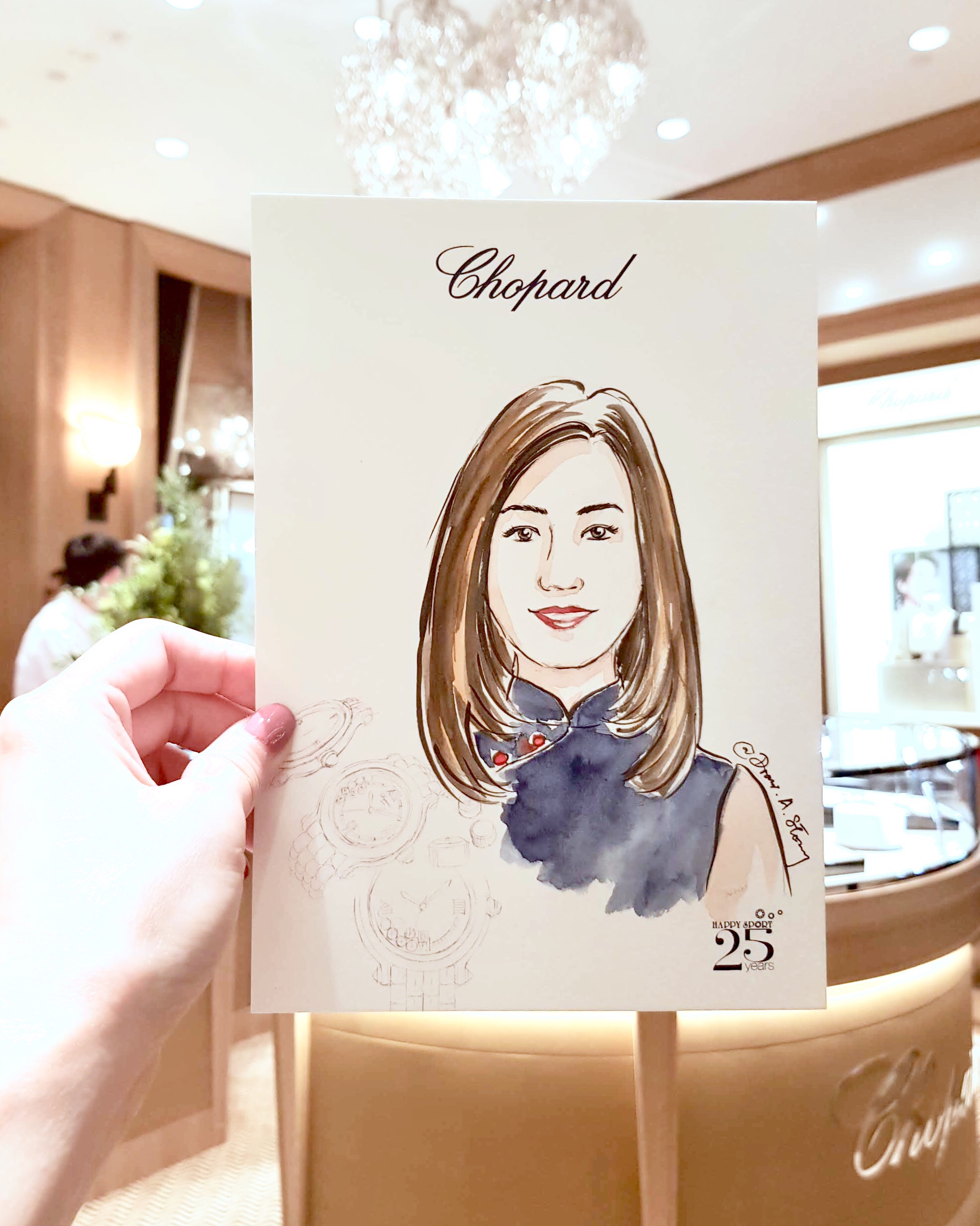 Live Fashion Portrait for Chopard's Private Event