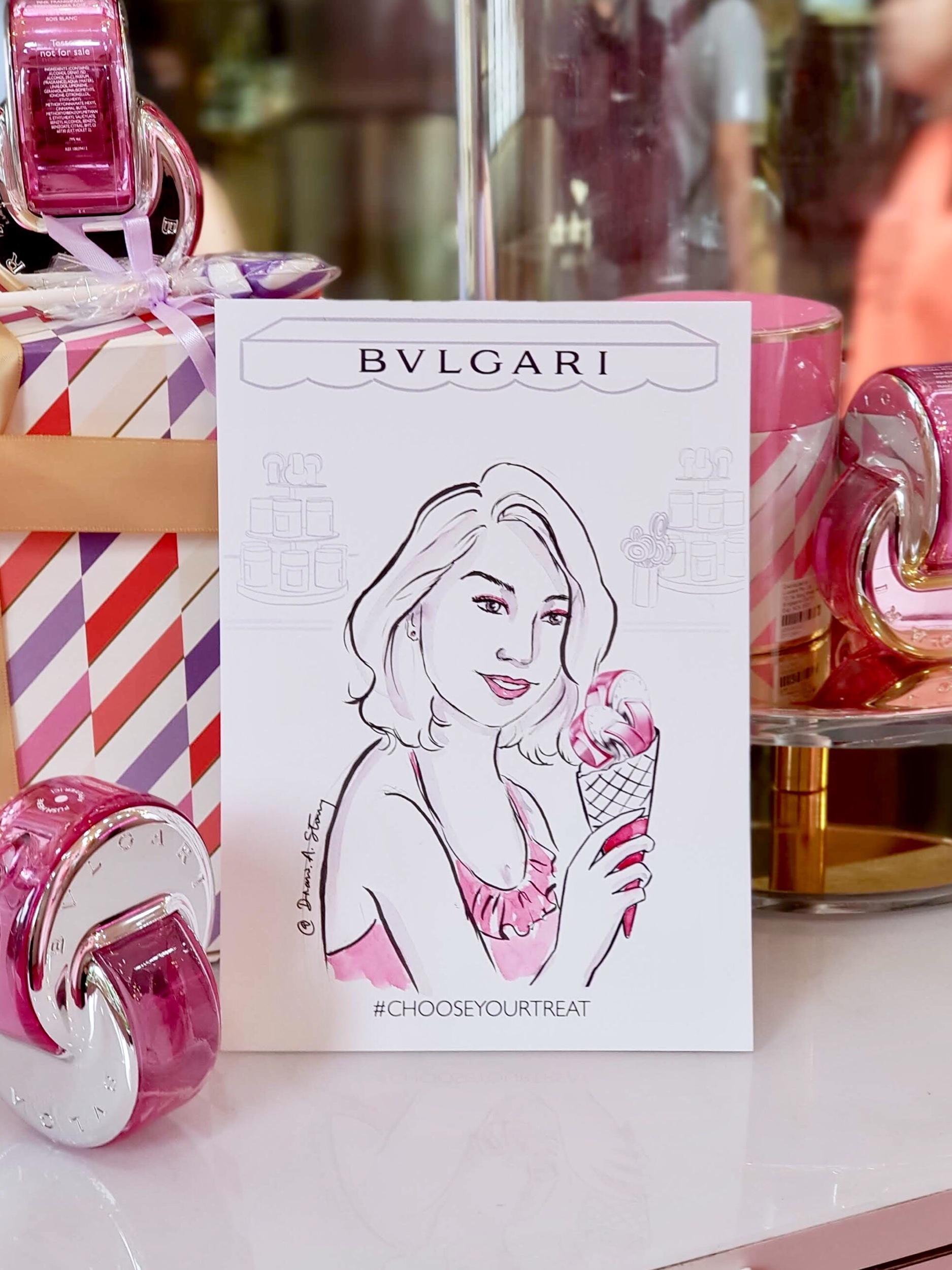 Live fashion Portrait for Bvlgari Parfums