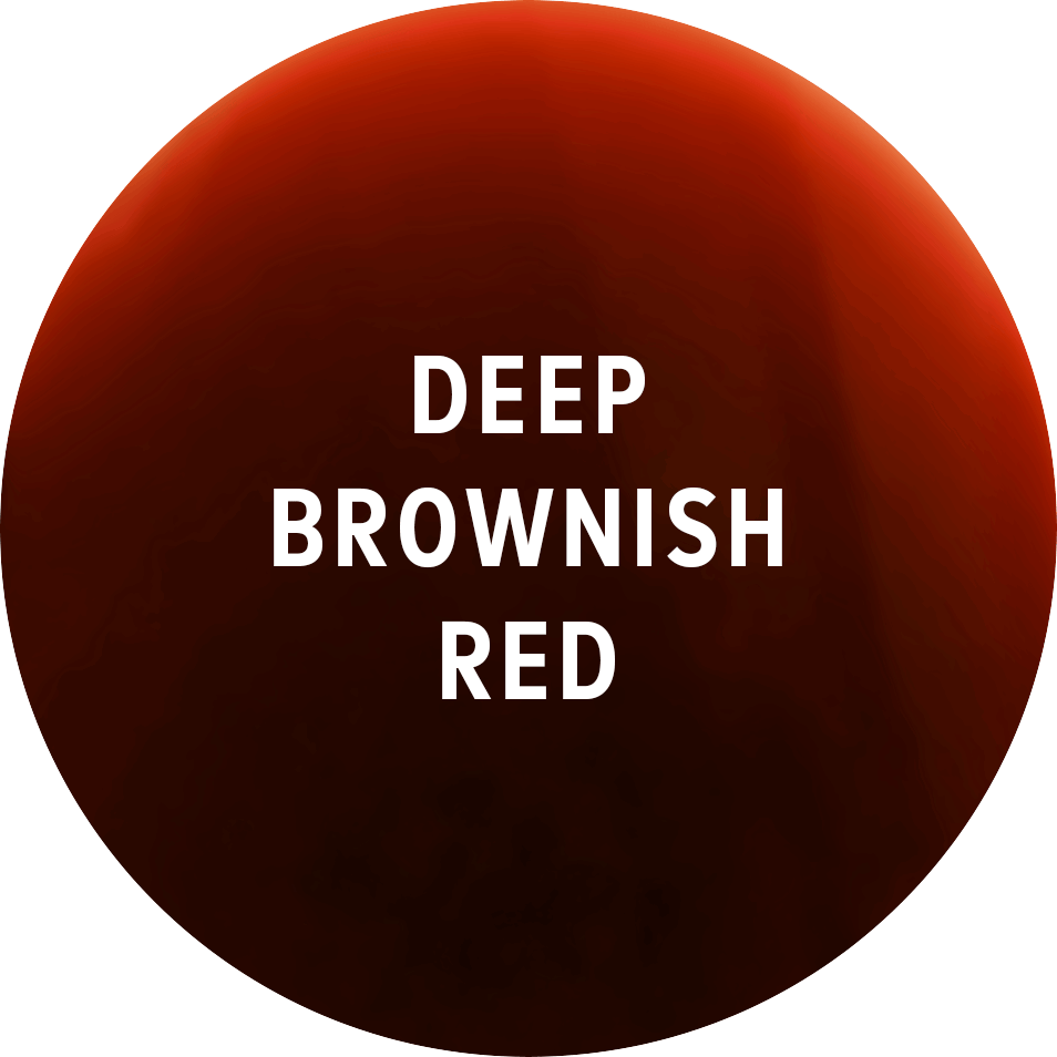 - A deep red, possibly with hints of brick, is a good clue of oaking,as the wine darkens whilst in the barrel.