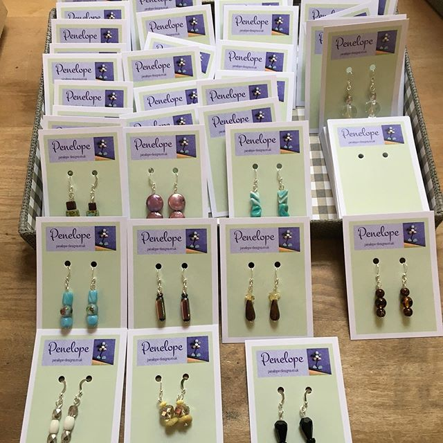 Lots of lovely new earrings arrived at the gallery today. No two pairs the same, variety of colours to choose from. Made by Penelope #earrings #colourful #unique #individual #beads #penelopedesigns #sixseasonsgallery #atmaws #artisansatmaws