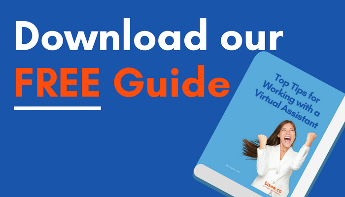Download our FREE Guide to working with a Virtual Assistant