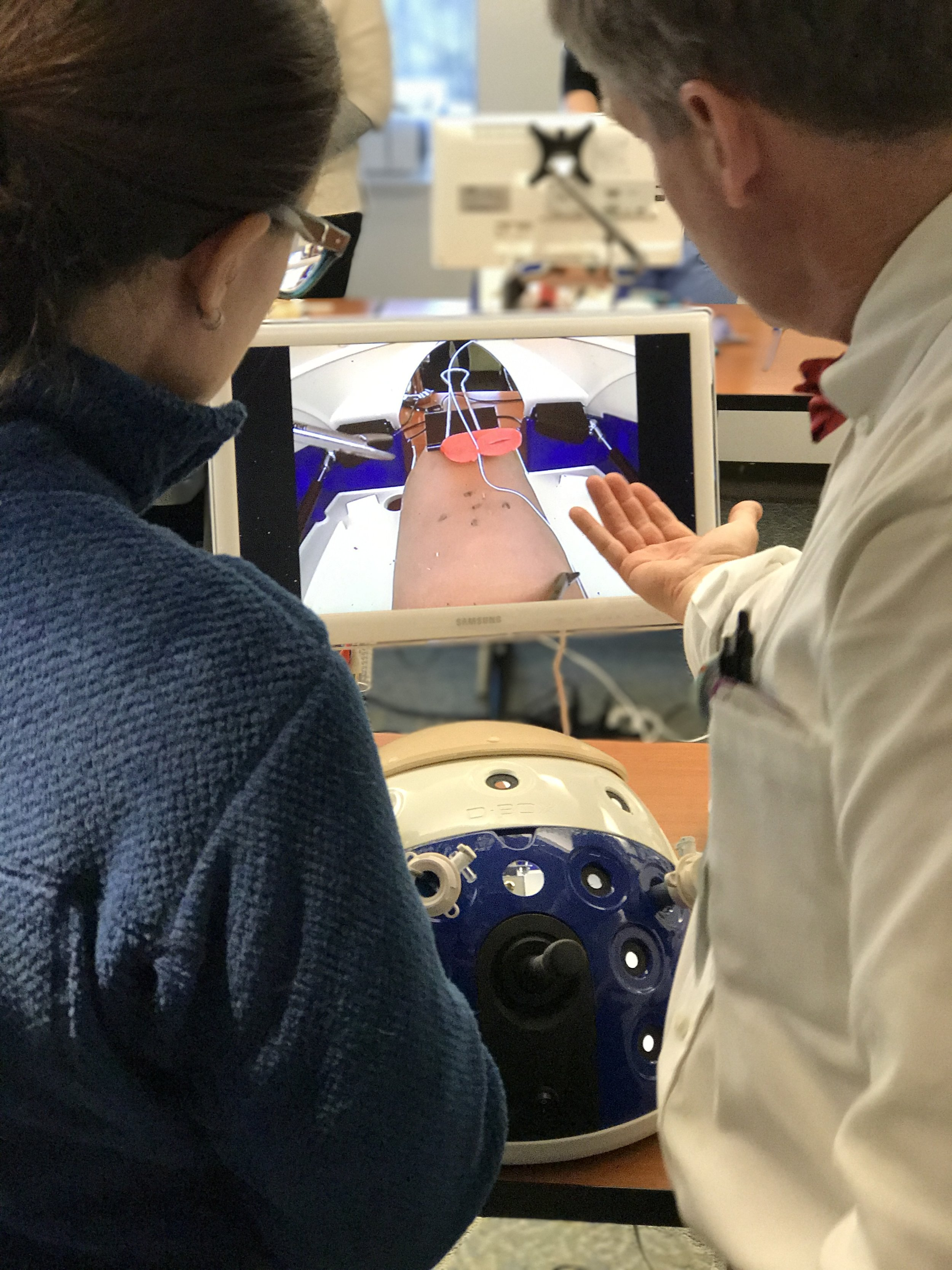Dry lab focused on suturing and knot-tying