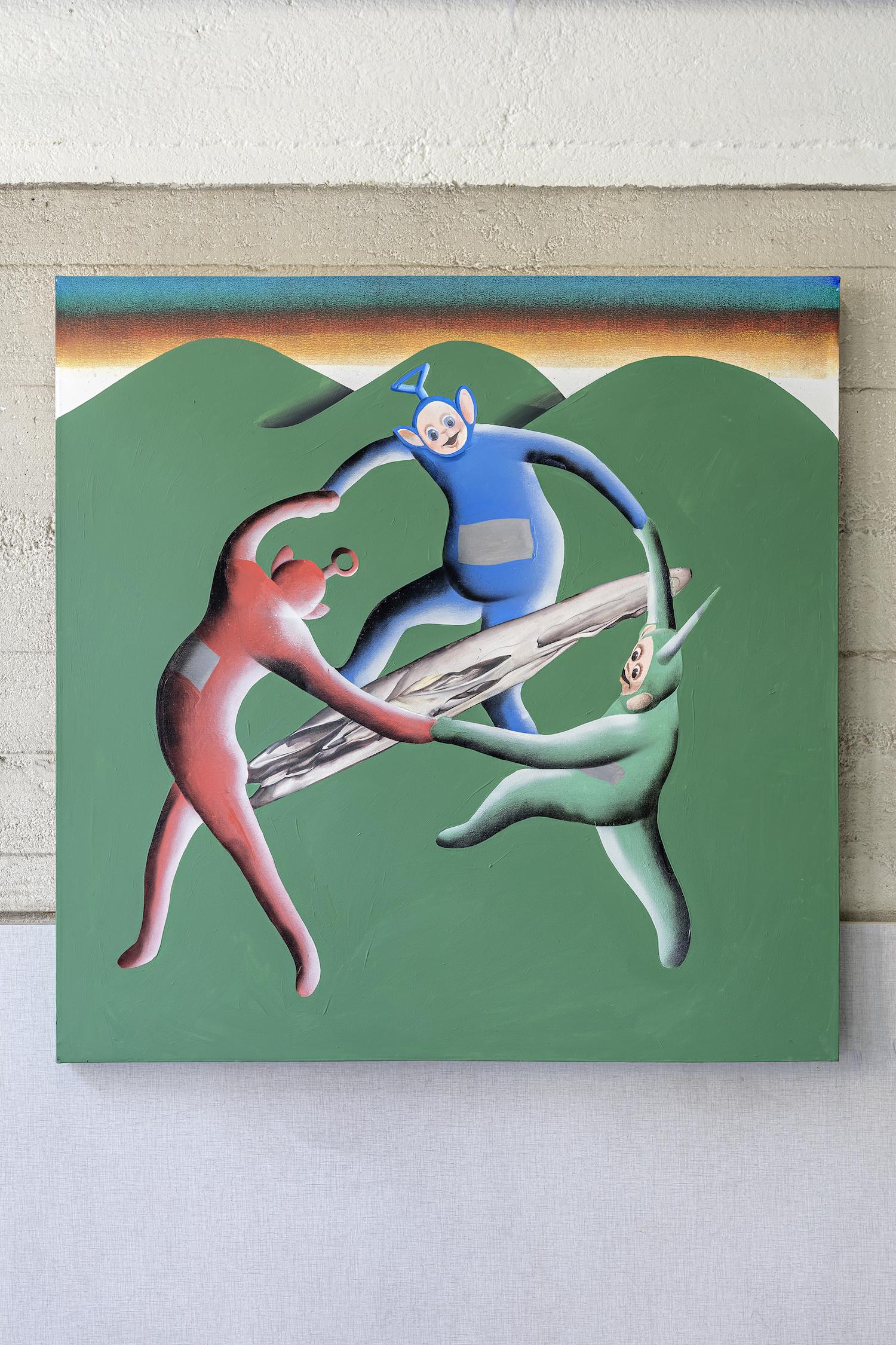 Botond Keresztesi Danse Macabre 2015, Acrylic on canvas, 100 x 100 cm