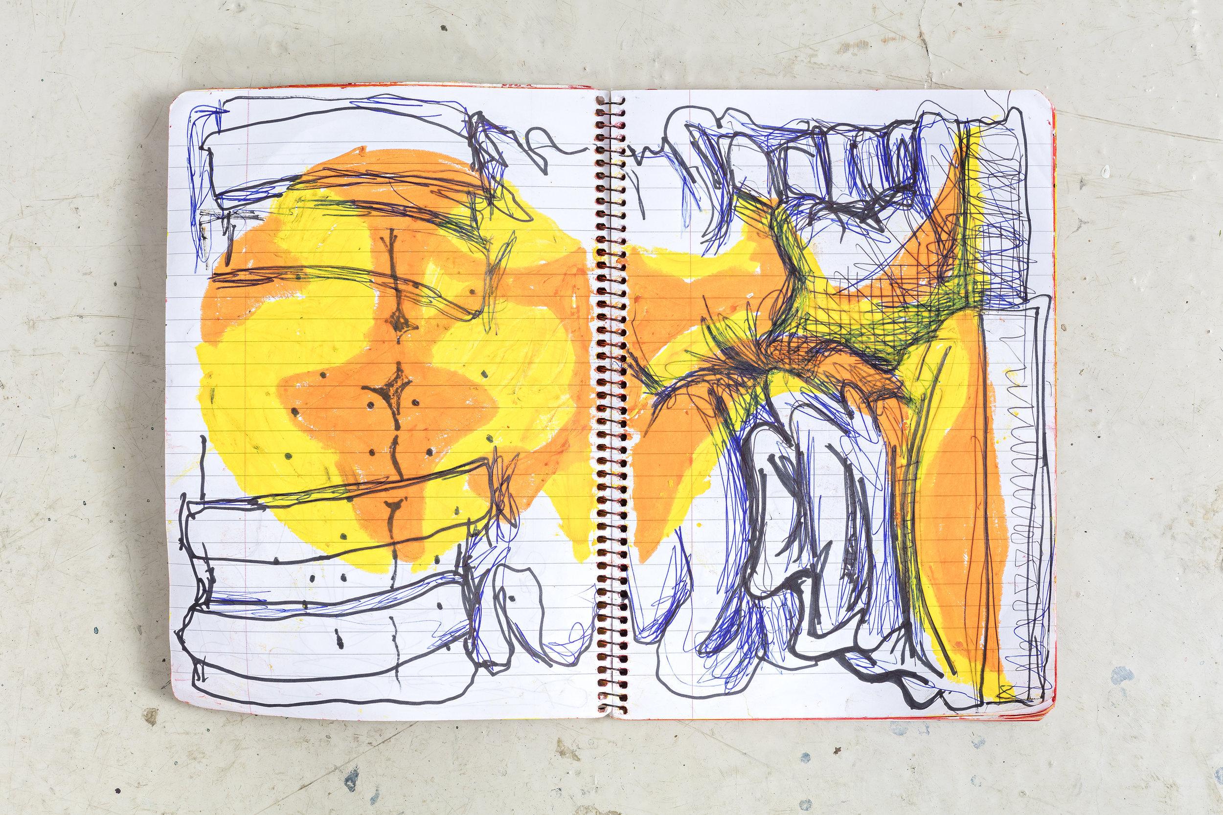 Notebook 3,2017  Spiral bound notebook 24 x 17 x 0.5 cm / 9 1/2 x 6 2/3 x 1/4 in / Unique