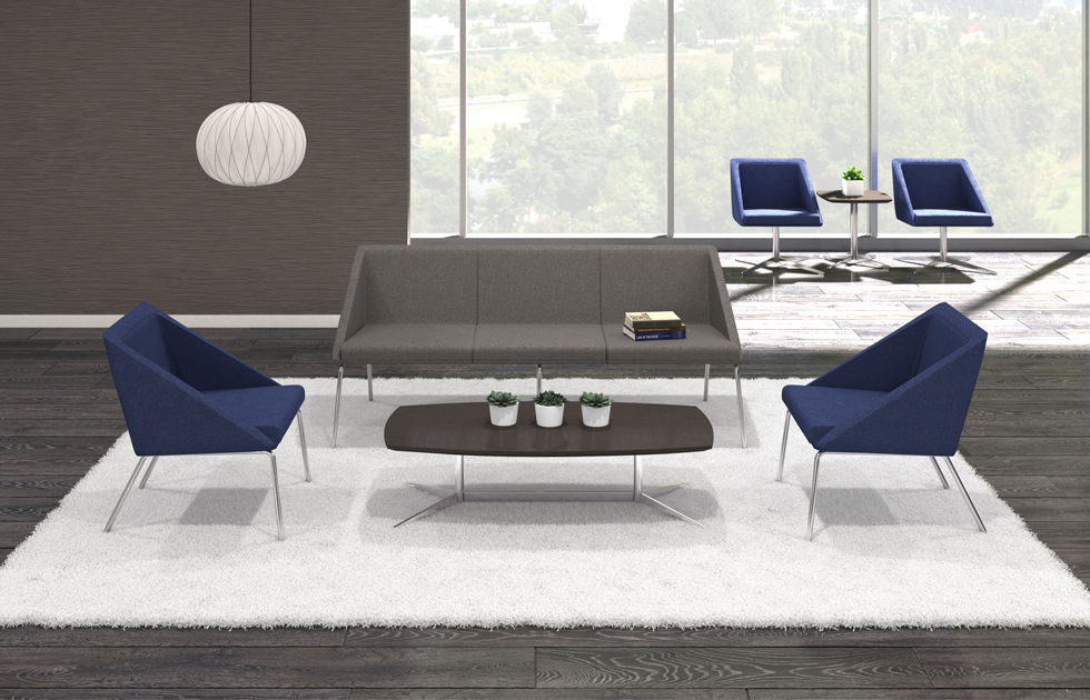 From lounge areas, to private office, to conference settings, the Bailey Collection can make a statement.