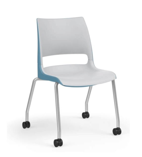 Doni Doni Four-Leg Armless Chair w/ Casters