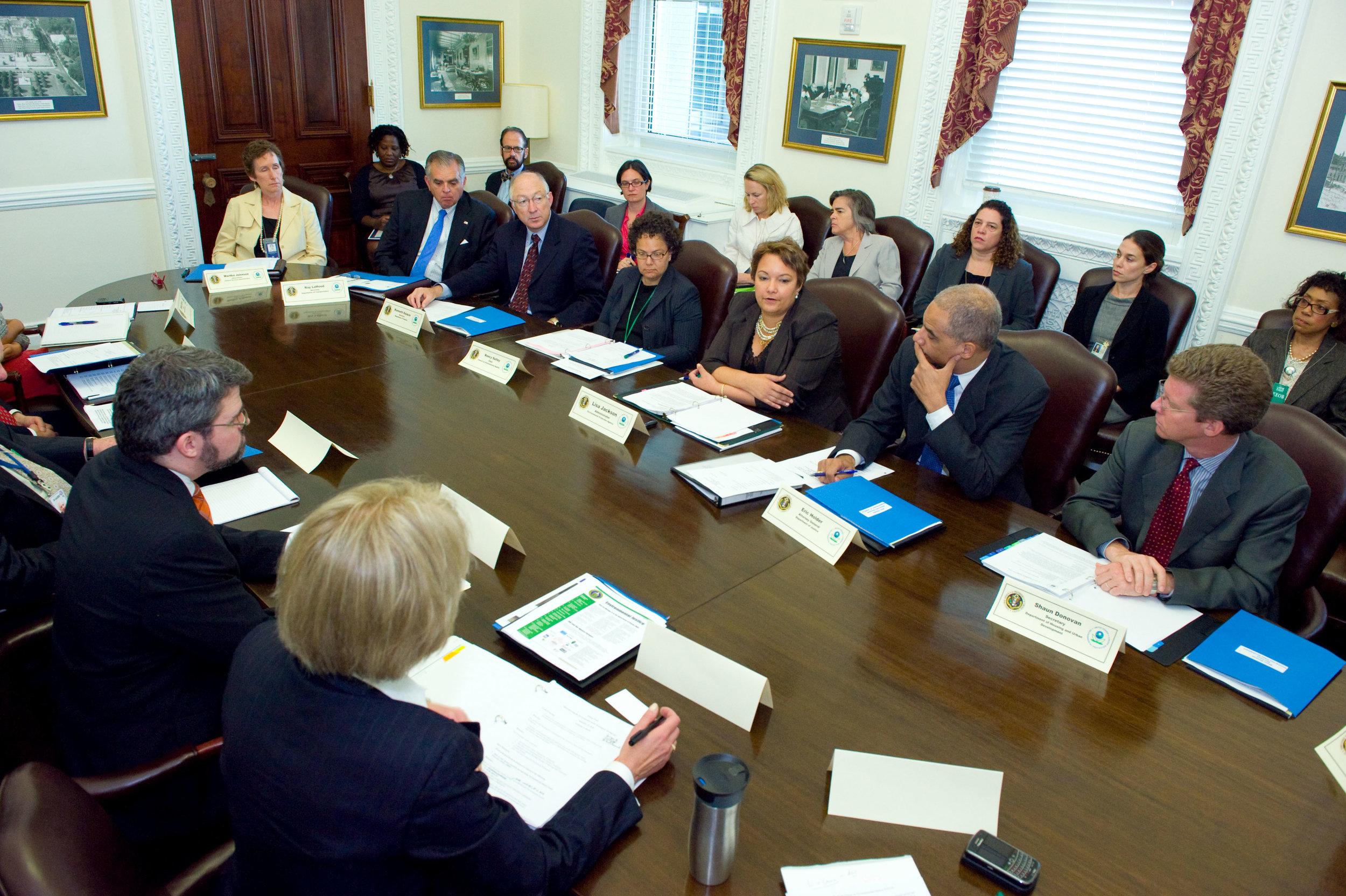 EPA hosts monumental meeting on environmental justice.   Source:  EPA
