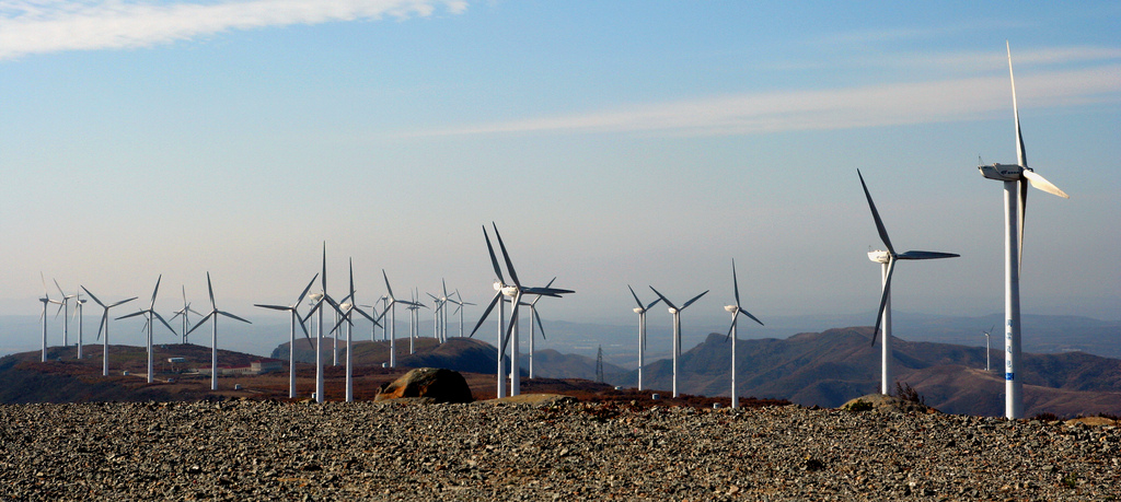 Carbon offset programs can include renewable energy sources, like this wind farm, or other programs like reforestation and energy capture. Photo from  Flickr