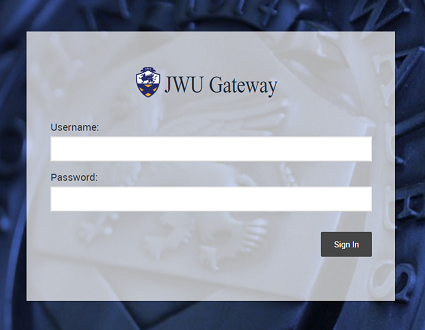 you simply type https://gateway.jwu.edu into the URL field of your device and then provide you network username and password to gain access.  JWU Gateway is designed to be viewed in Portrait mode on a mobile phone and in Landscape mode on a tablet