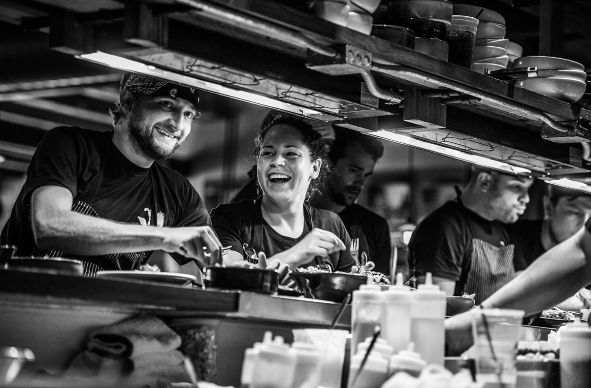 CHEF STEPHANIE IZARD & HER TEAM