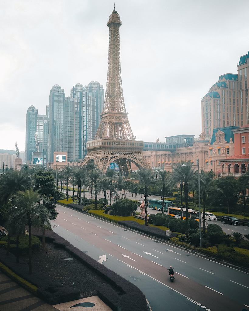 The Parisian Macau has its own casino, shopping mall, and an Eiffel replica for photo ops.