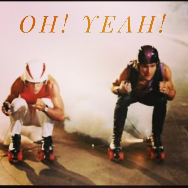 Wish I was doing this right now.  Went roller skating the other day and it was pretty powerful #yungfun #heveelevee