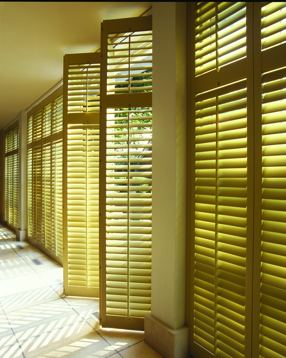 Natural Stain Wood Shutters