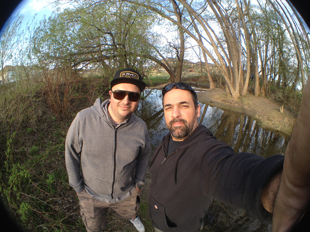Will and I at a small creek near my house where the first samples were obtained.