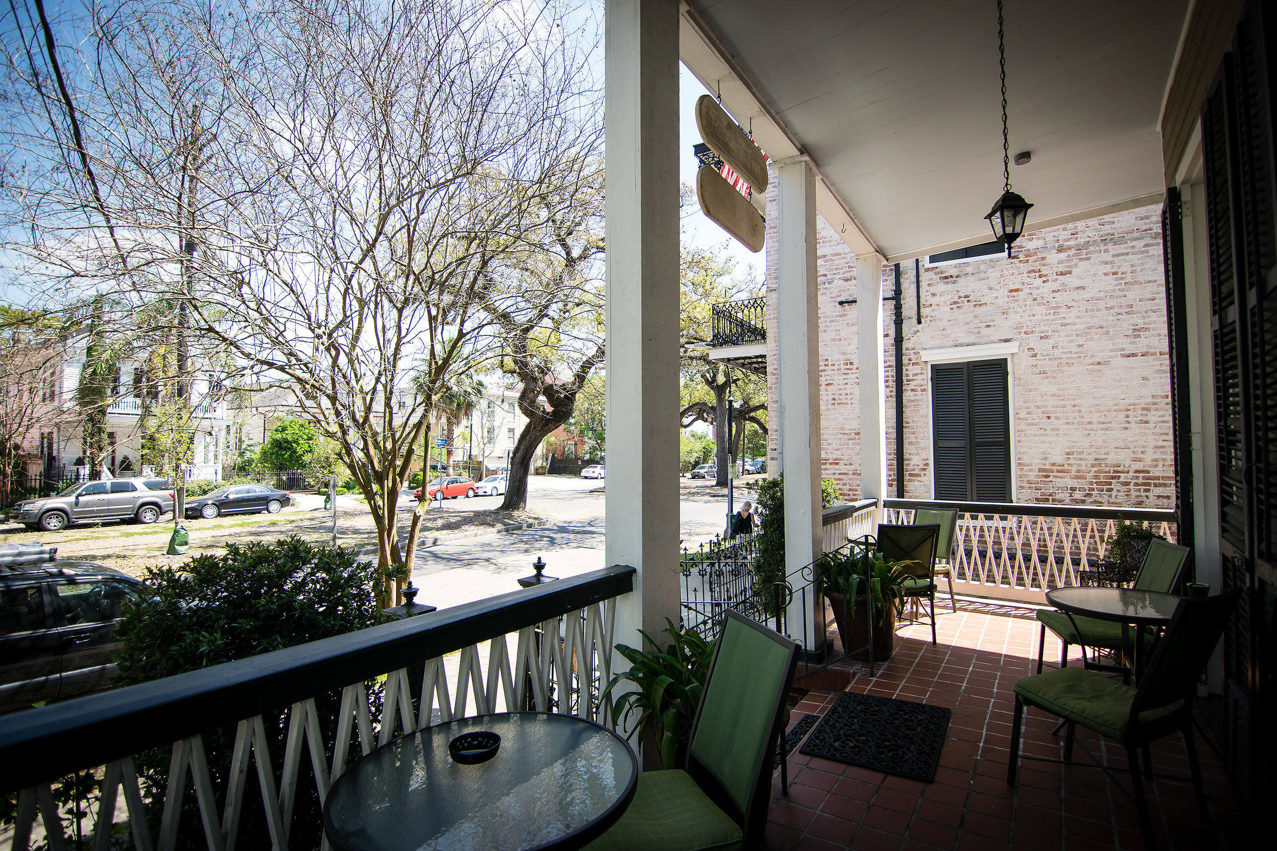 Front porch overlooking Esplanade Avenue