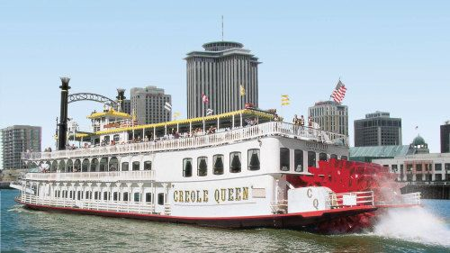 New Orleans: a paddlewheel riverboat on the Mississippi