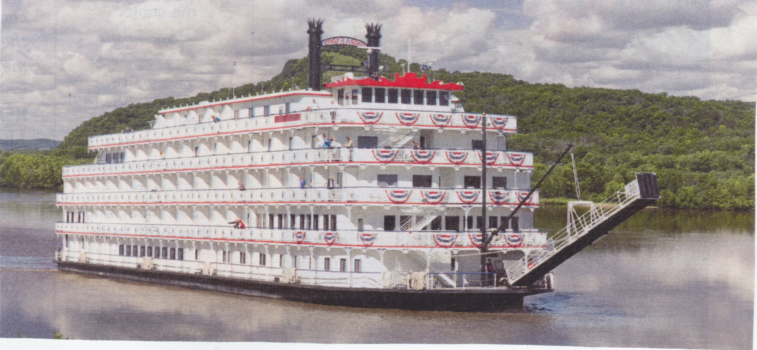 A riverboat on the Mississippi River