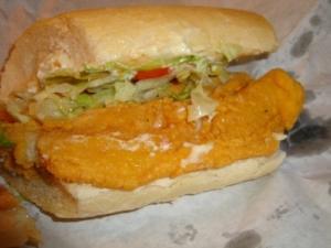 Fried Catfish Po'boy
