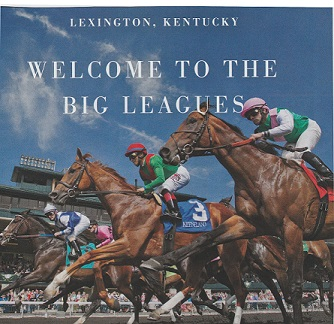 Louisville and Lexington are one hour and 16 minutes apart, if you drive nonstop on I-64E – the fastest route. This ad appeared in  Condé Nast Traveler,  March 2019