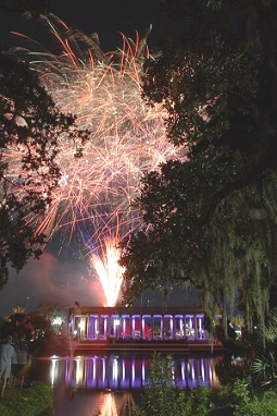 Music and fireworks at City Park