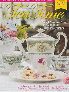The front cover of the May/June 2019 issue of  Tea Time  magazine