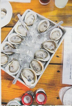 Local oysters at the Royal Oyster, in Gulf Shores – all photos courtesy of  Travel & Leisure,  April 2019