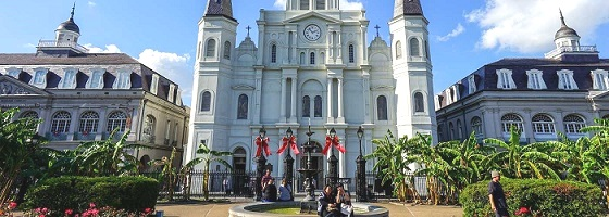 The stately St. Louis Cathedral in the heart of the city