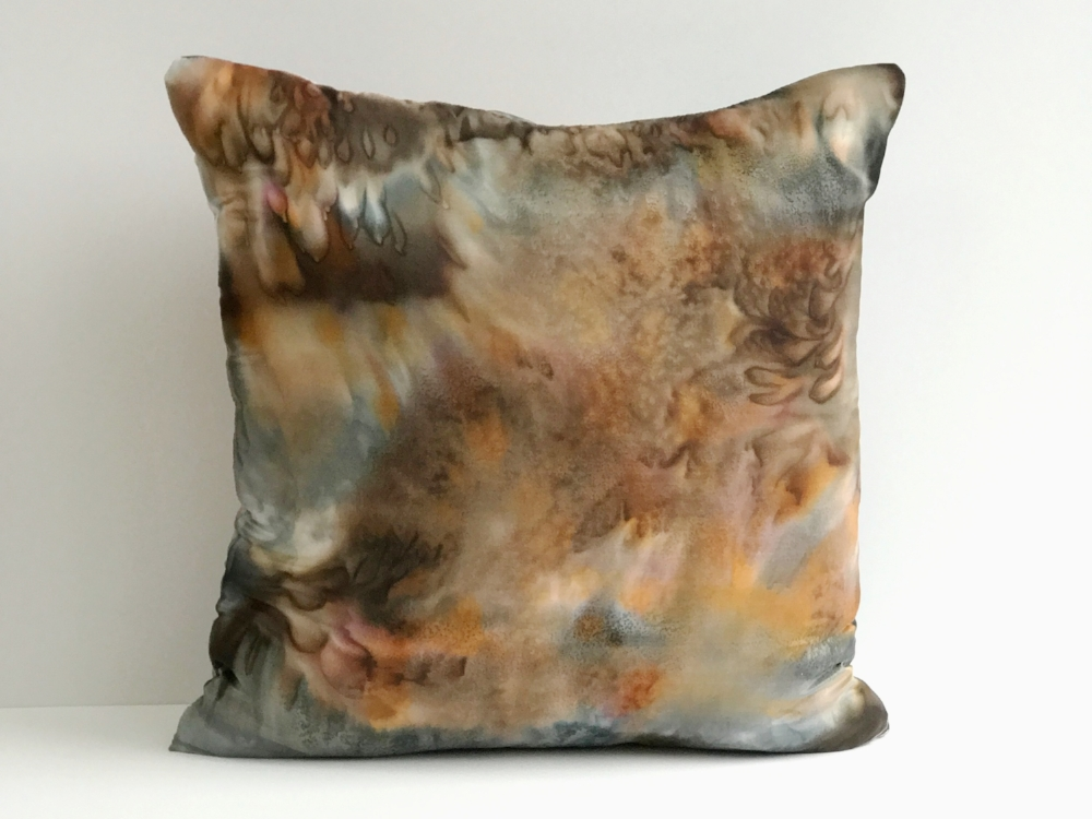 Hand painted silk pillows