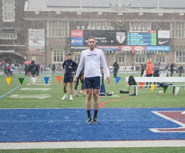 Some shots of @lyassay during a rainy Penn Relays🔴🔵