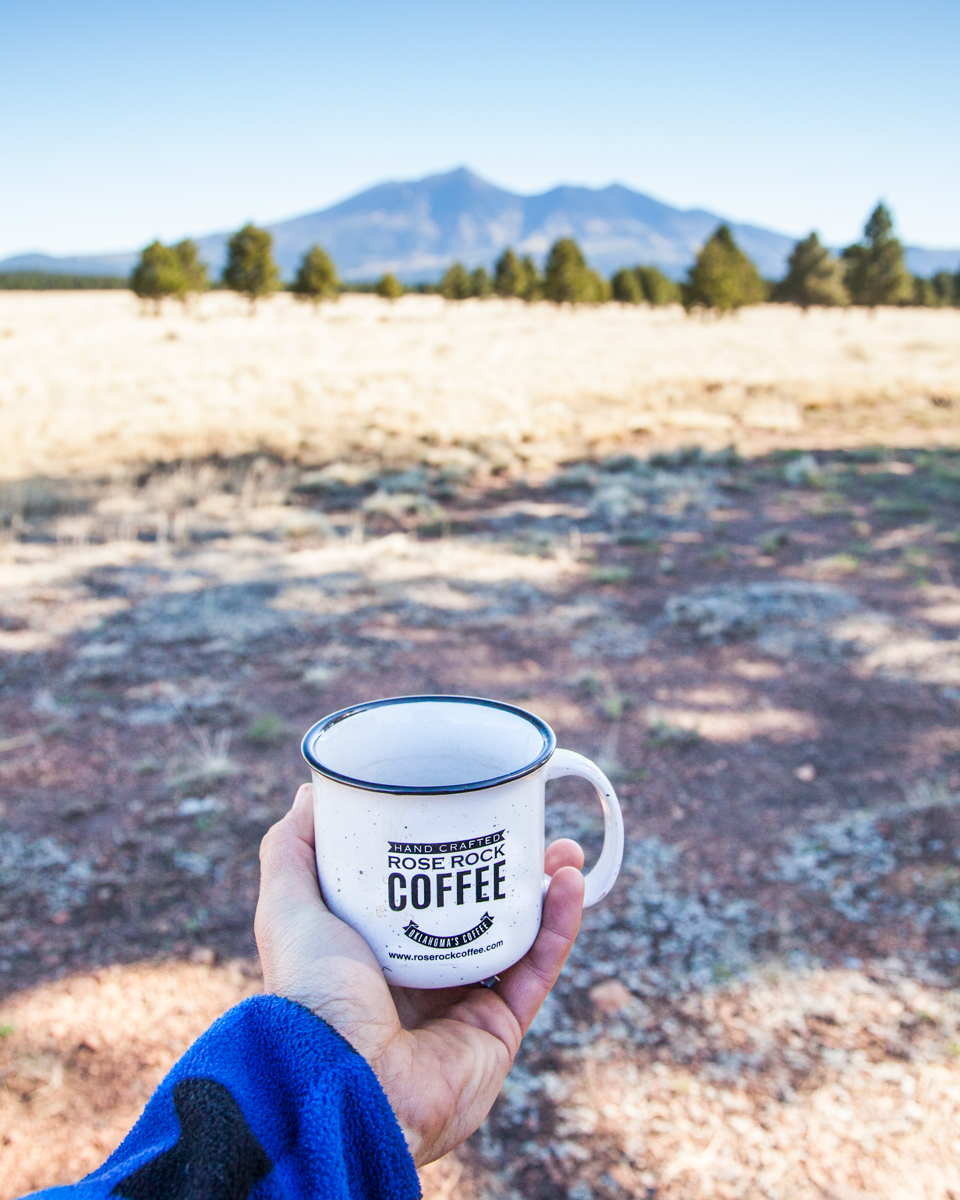 Oklahoma's Coffee - Our mission here at Rose Rock Coffee is to find and roast 100% Arabica beans sourced from all over the world. Then blend those beans to create a very unique coffee experience.Rose Rock, Oklahoma's state rock, has survived the test of time and stands as a symbol of survival, hard work, and perseverance. Just as unique, our bold and adventurous blends have been designed to satisfy even the harshest Chuck Wagon connoisseur. Let the subtle notes send you through your day with the determination of a fierce Oklahoma storm.