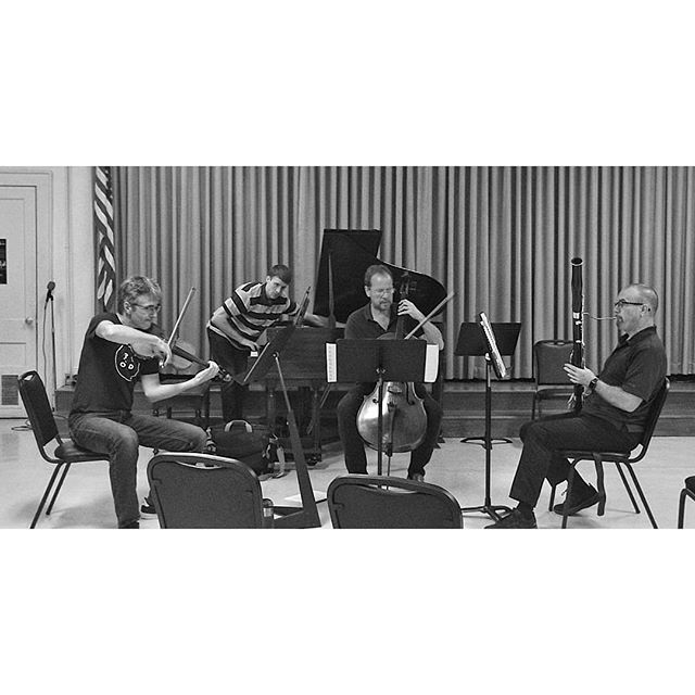 """Rehearsals have been going swell. We hope to see you all tonight for our double Reed feature program, """"Dark Wood"""". The concert is so bas-SOON! [Sorry, not sorry] Thursday, May 23rd at the Timucua White House. Doors at 7 p.m., music at 7:30 p.m.  #comehearus #alterityco #doublethereeddoublethefun . . . . . #alteritychamberorchestra #chamberorchestra #chambergroup #chamberensemble #newmusic #freshink #newlycomposed #livingcomposer #femalefounded #picoftheday #potd #femalecomposer #contemporarymusic #cool #localmusic #orlando #mezcal #orlandodoesntsuck"""