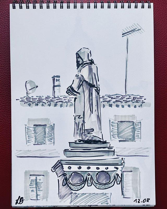 Roman sketches 🇮🇹❣️📕 #sketchbookdrawing #romanholidays #fororomano #campodifiori #montalcino #fontanadeiquattrofiumi