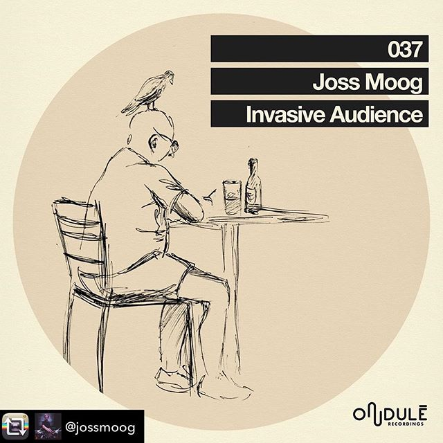 "Super happy to have my sketch be on the cover of  @jossmoog new Ep ""Invasive Audience"", can't wait to take a listen! Many thanks to Joss and @ondulerecordings 🙌🏼🐦🙌🏼"