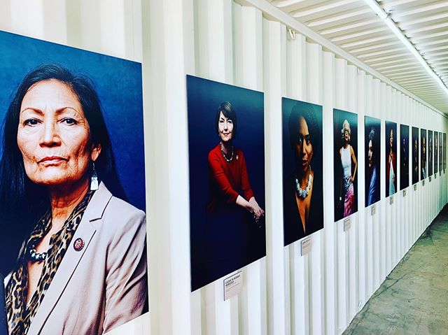 "Photoville 2019 - the impact of these beautiful strong women 💪🏼 ""Redefining Representation: the Women of the 116th Congress"" - Elizabeth D. Herman & Celeste Sloman #photoville2019 #strongwomenportraits #nycphotoexhibition #underthebridge #dumbobrooklyn"