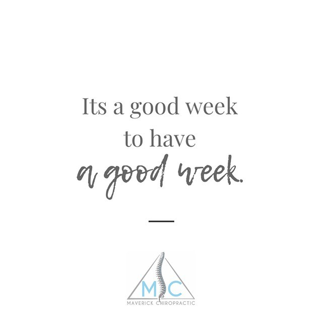 Ya know what can make your week even better? . . . Coming in for an adjustment or massage! How do you get started off on the right foot each week? Tell us your secrets!👇🏻