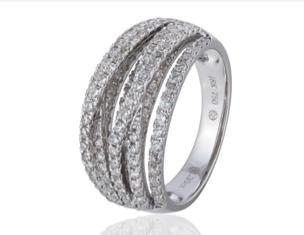 Sophia by Design 18k White Gold 1.30 CT Diamond Ring