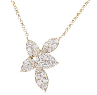 Sophia by Design 0.92 CT Diamond Necklace 18k Yellow Gold