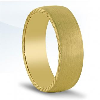 18K yellow gold carved edge ring N16730