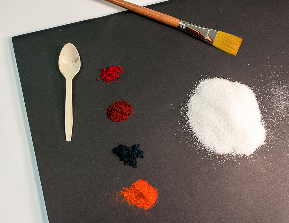 Paint powder and brushes