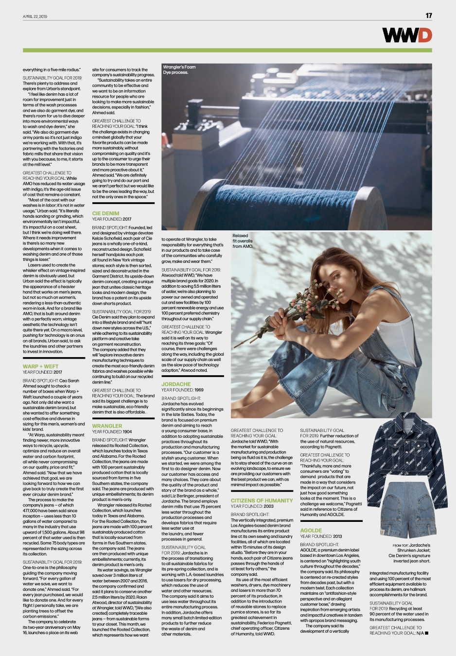 WWD SUSTAINABLE DENIM ROUND-UP