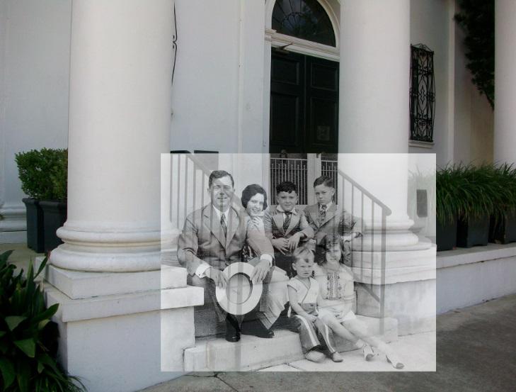 Huey P. Long and family