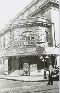 Palace Theatre,  Iberville and Dauphine Street, New Orleans, 1949. Photographer: William Russell . Courtesy of the Hogan Jazz Archive, Tulane University.