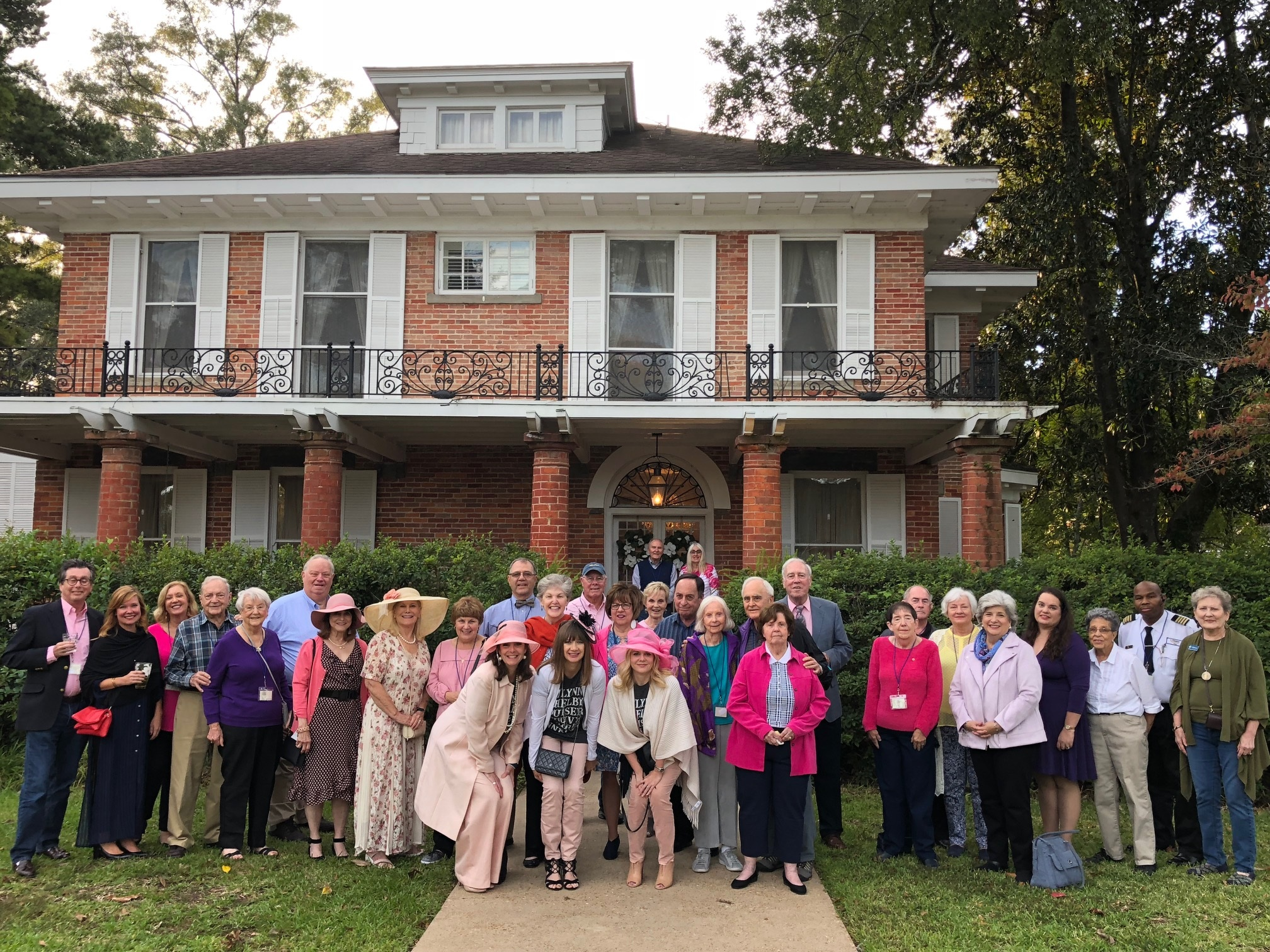 Our Preserve Louisiana Group in October, 2018 at the Steel Magnolia House for a tour and mint julep party!
