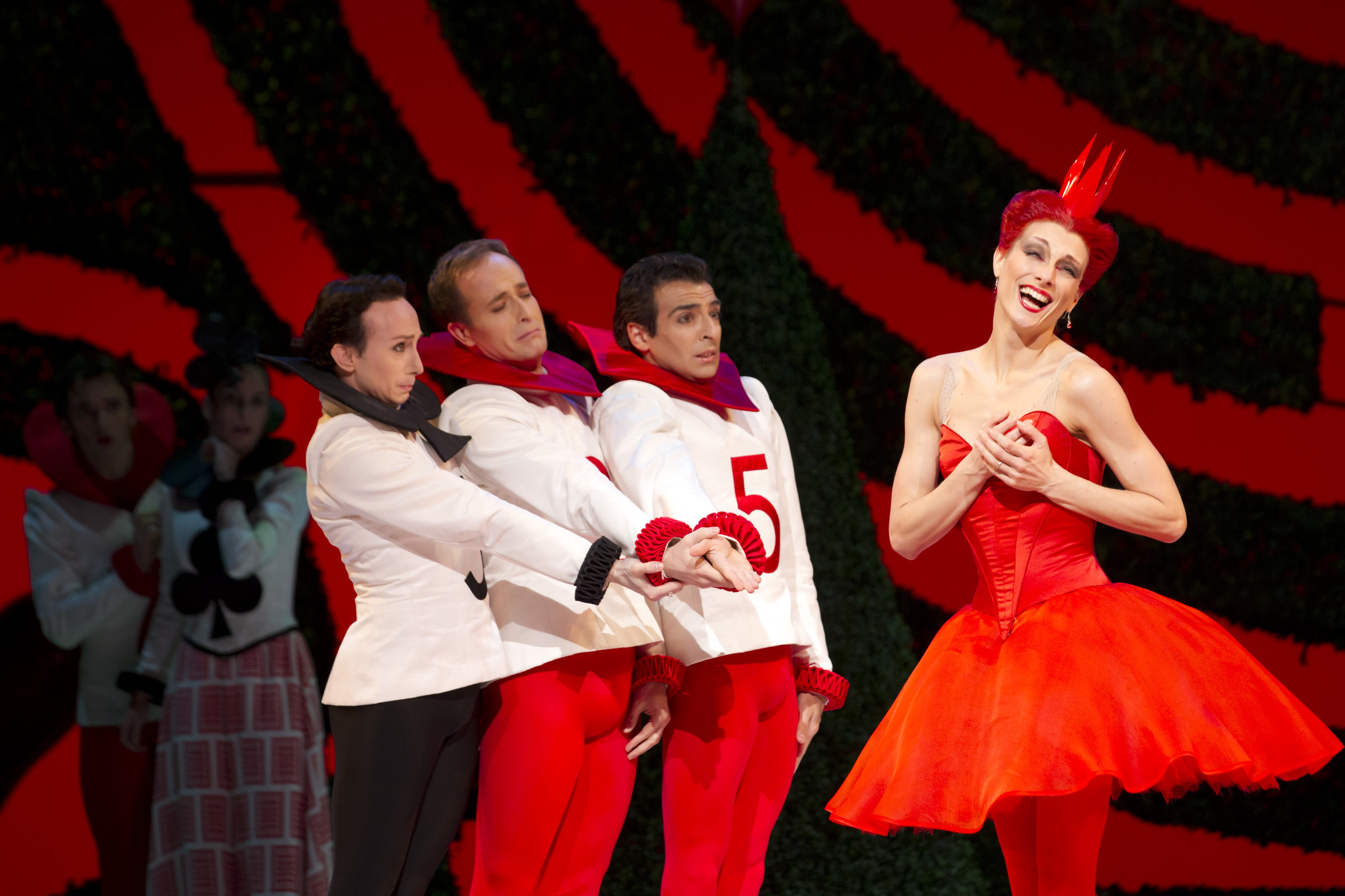 Zenaida Yanowsky as the Queen of Hearts and artists of the Royal Ballet (C) Johan Persson.jpg